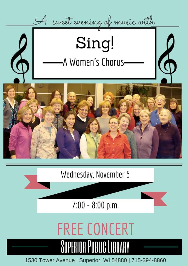 Sing! A Women's Chorus November 5